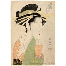 長喜: Tsukasa Dayü of Higashi Ögi-ya in Ösaka's Shinmachi - ホノルル美術館