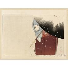 富岡英泉: Snowy Day - ホノルル美術館