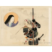 富岡英泉: Samurai Struggling , Worrior Shima Kanzemon - ホノルル美術館