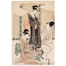 Hosoda Eishi: A Visual Parody of Ushiwakamaru and Princes Jöruri - Honolulu Museum of Art