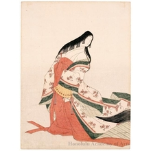 Hosoda Eishi: The Poetess Izumi Shikibu - Honolulu Museum of Art