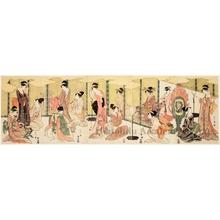 細田栄之: A Visual Parody of Ushiwakamaru and Princes Jöruri - ホノルル美術館