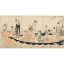 細田栄之: Treasure Ship - ホノルル美術館