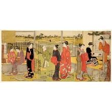 細田栄之: Early Afternoon at the Country House - ホノルル美術館