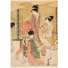 Hosoda Eishi: A Visual Parody of Ushiwakamaru and Princes Joruri - Honolulu Museum of Art