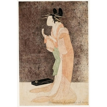 Hosoda Eishi: Misayama of the Chöji-ya Brothel House in Her Dressing Room - Honolulu Museum of Art