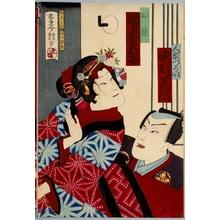 Adachi Ginko: Nakamura Shikan as Puppeteer, Onoe Kikugorö as Osome - Honolulu Museum of Art