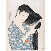 Hashiguchi Goyo: Combing Hair - Honolulu Museum of Art