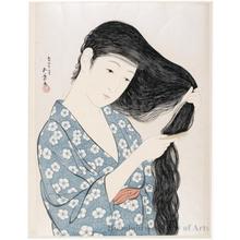 Hashiguchi Goyo: Combing Hair - Honolulu Museum of Art