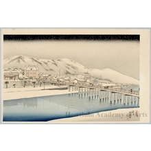 Hashiguchi Goyo: Sanjö Bridge Kyoto - Honolulu Museum of Art
