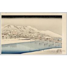 橋口五葉: Sanjö Bridge Kyoto - ホノルル美術館