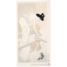 Hashiguchi Goyo: Woman in the bath - Honolulu Museum of Art