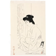 Hashiguchi Goyo: Hand Mirror - Honolulu Museum of Art