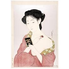 橋口五葉: A Woman Applying Powder - ホノルル美術館