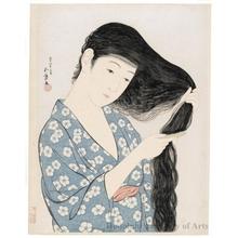 Hashiguchi Goyo: Woman Combing Her Hair - Honolulu Museum of Art