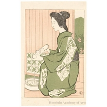 Hashiguchi Goyo: Hot Spring - Honolulu Museum of Art