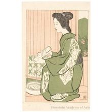 Hashiguchi Goyo: Hot Spring - Honolulu Museum of Art