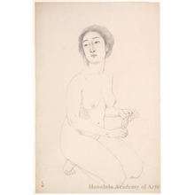 Hashiguchi Goyo: Woman Holding A Towel - Honolulu Museum of Art
