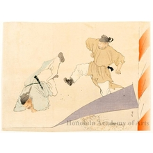 梶田半古: Beginning of Sumoö - ホノルル美術館