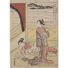 鈴木春信: Jakuren - ホノルル美術館
