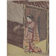 鈴木春信: Parody of Ota Dökan - ホノルル美術館