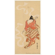 Suzuki Harunobu: Dancer, Nuno-sarashi - Honolulu Museum of Art