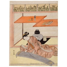 Suzuki Harunobu: A Beauty Playing the Koto - Honolulu Museum of Art