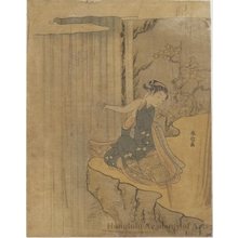 Suzuki Harunobu: Waterfall - Honolulu Museum of Art