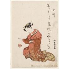 Suzuki Harunobu: Ehon Seirö Bijin Awase (Book Title): Nanamachi - Honolulu Museum of Art