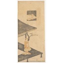 鈴木春信: Ono no Komachi - ホノルル美術館