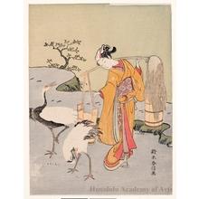 鈴木春信: A Parody of Lin Ho-ching - ホノルル美術館
