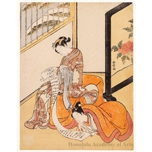 Suzuki Harunobu: A Parody of the Chinese Sage, Sun Kang: A Couple Reading a Letter - Honolulu Museum of Art