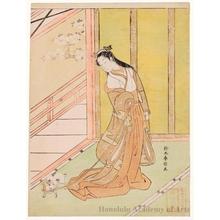Suzuki Harunobu: The Third Princess from the Tale of Genji (Princess Sannomiya) - Honolulu Museum of Art
