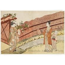 "Suzuki Harunobu: Parody of ""Evening Faces"" - Honolulu Museum of Art"