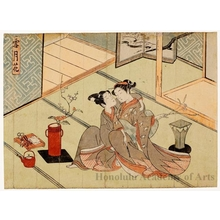 Suzuki Harunobu: Snow, Moon, Flowers: Flowers - Honolulu Museum of Art