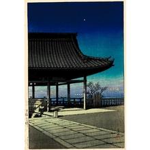 川瀬巴水: Takatsu, Ösaka - ホノルル美術館