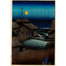 川瀬巴水: Mishima River, Mutsu - ホノルル美術館