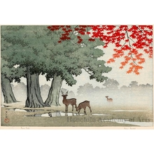 Kawase Hasui: Nara Park - Honolulu Museum of Art