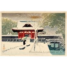 Kawase Hasui: Snow at Shiba Park - Honolulu Museum of Art