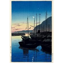 川瀬巴水: Dawn at Beppu - ホノルル美術館