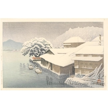 Kawase Hasui: Ishinomaki in the Snow - Honolulu Museum of Art
