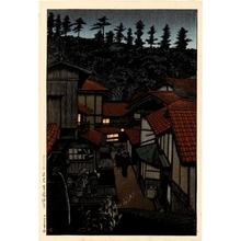 川瀬巴水: Arifuku Spa, Iwami - ホノルル美術館