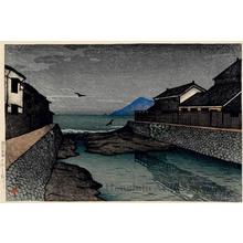 川瀬巴水: Hori River, Obama - ホノルル美術館