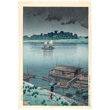 Kawase Hasui: Early Summer Rain, Arakawa - Honolulu Museum of Art