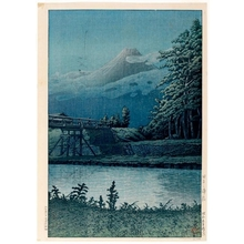 Kawase Hasui: Tagonoura Bridge - Honolulu Museum of Art