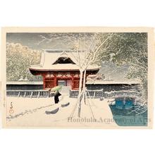 川瀬巴水: Shiba Park - ホノルル美術館
