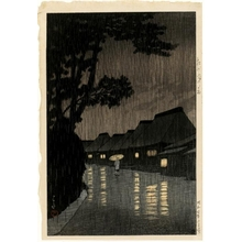 Kawase Hasui: Rain in Maekawa, Söshü - Honolulu Museum of Art