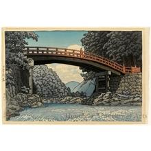 川瀬巴水: Shin Bridge at Nikko - ホノルル美術館