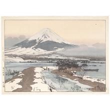 吉田博: Lake Kawaguchi - ホノルル美術館