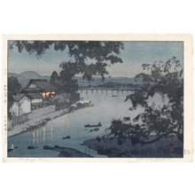 吉田博: Evening on the River, Chikugogawa - Hita - ホノルル美術館